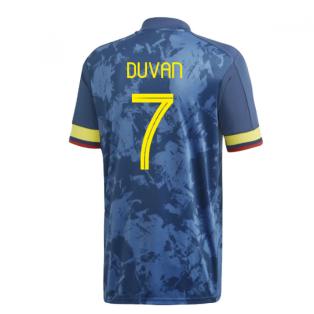 2020-2021 Colombia Away Adidas Football Shirt (DUVAN 7)