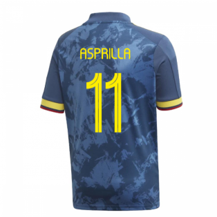 2020-2021 Colombia Away Adidas Football Shirt (Kids) (ASPRILLA 11)