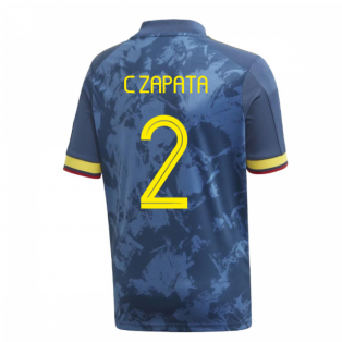 2020-2021 Colombia Away Adidas Football Shirt (Kids) (C ZAPATA 2)