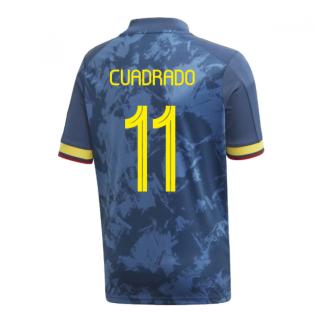 2020-2021 Colombia Away Adidas Football Shirt (Kids) (CUADRADO 11)