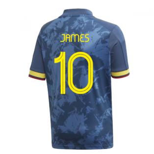 2020-2021 Colombia Away Adidas Football Shirt (Kids) (JAMES 10)
