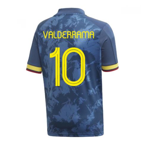 2020-2021 Colombia Away Adidas Football Shirt (Kids) (VALDERRAMA 10)