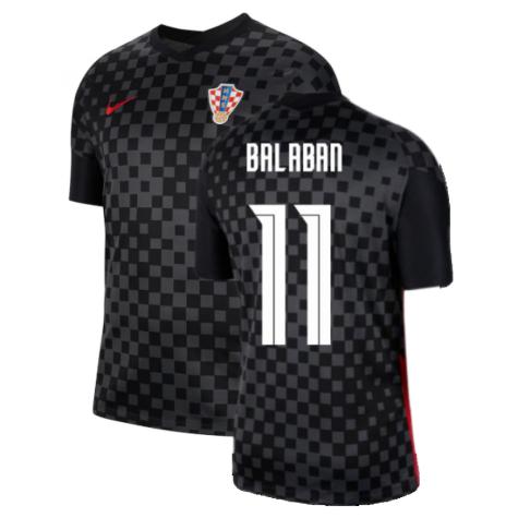 2020-2021 Croatia Away Nike Football Shirt (BALABAN 11)