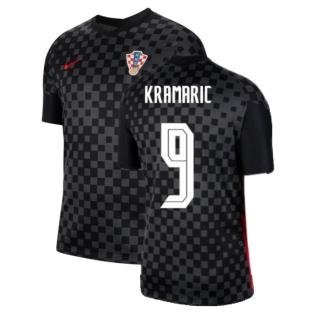 2020-2021 Croatia Away Nike Football Shirt (KRAMARIC 9)
