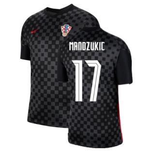 2020-2021 Croatia Away Nike Football Shirt (MANDZUKIC 17)