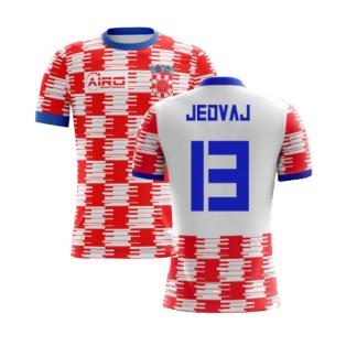 2020-2021 Croatia Home Concept Shirt (Jedvaj 13) - Kids