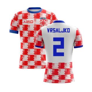 2020-2021 Croatia Home Concept Shirt (Vrsaljko 2) - Kids