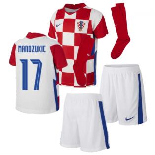 2020-2021 Croatia Home Mini Kit (MANDZUKIC 17)