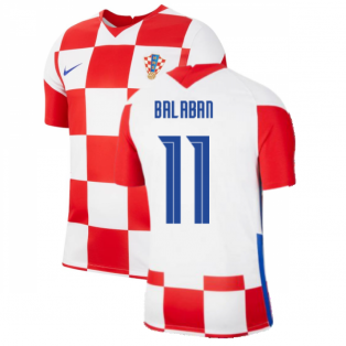 2020-2021 Croatia Home Nike Football Shirt (BALABAN 11)