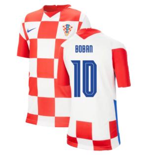 2020-2021 Croatia Home Nike Football Shirt (Kids) (BOBAN 10)
