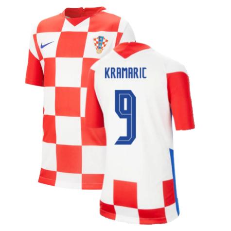 2020-2021 Croatia Home Nike Football Shirt (Kids) (KRAMARIC 9)