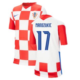 2020-2021 Croatia Home Nike Football Shirt (Kids) (MANDZUKIC 17)