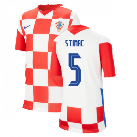 2020-2021 Croatia Home Nike Football Shirt (Kids) (STIMAC 5)