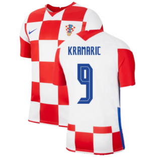 2020-2021 Croatia Home Nike Football Shirt (KRAMARIC 9)