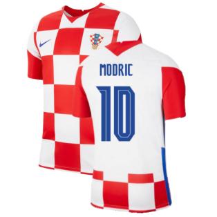 2020-2021 Croatia Home Nike Football Shirt (MODRIC 10)
