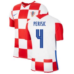2020-2021 Croatia Home Nike Football Shirt (PERISIC 4)