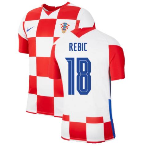 2020-2021 Croatia Home Nike Football Shirt (REBIC 18)