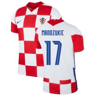 2020-2021 Croatia Home Nike Vapor Shirt (MANDZUKIC 17)