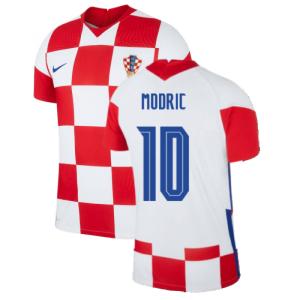 2020-2021 Croatia Home Nike Vapor Shirt (MODRIC 10)