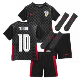 2020-2021 Croatia Little Boys Away Mini Kit (MODRIC 10)