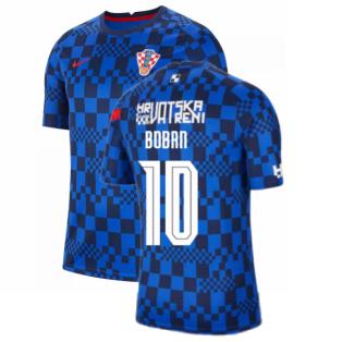 2020-2021 Croatia Pre-Match Training Shirt (Blue) - Kids (BOBAN 10)