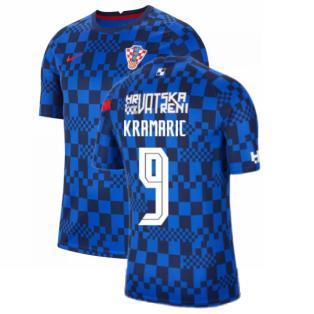2020-2021 Croatia Pre-Match Training Shirt (Blue) - Kids (KRAMARIC 9)