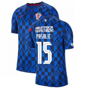 2020-2021 Croatia Pre-Match Training Shirt (Blue) - Kids (PASALIC 15)