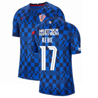 2020-2021 Croatia Pre-Match Training Shirt (Blue) - Kids (REBIC 17)