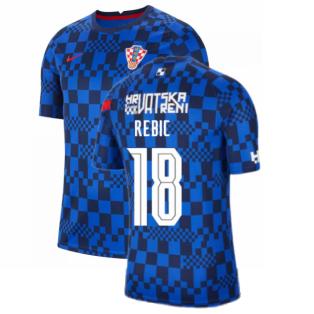 2020-2021 Croatia Pre-Match Training Shirt (Blue) - Kids (REBIC 18)
