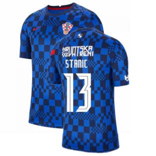 2020-2021 Croatia Pre-Match Training Shirt (Blue) - Kids (STANIC 13)