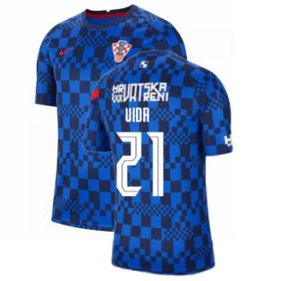 2020-2021 Croatia Pre-Match Training Shirt (Blue) - Kids (VIDA 21)