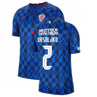 2020-2021 Croatia Pre-Match Training Shirt (Blue) - Kids (VRSALJKO 2)