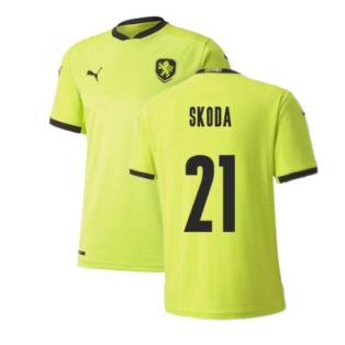 2020-2021 Czech Republic Away Puma Football Shirt (Kids) (SKODA 21)