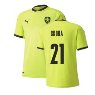 2020-2021 Czech Republic Away Puma Football Shirt (SKODA 21)