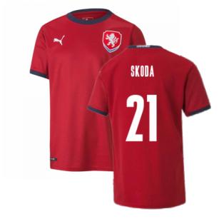2020-2021 Czech Republic Home Shirt (Kids) (SKODA 21)