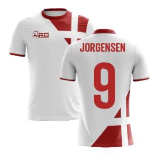 2020-2021 Denmark Away Concept Football Shirt (Jorgensen 9) - Kids