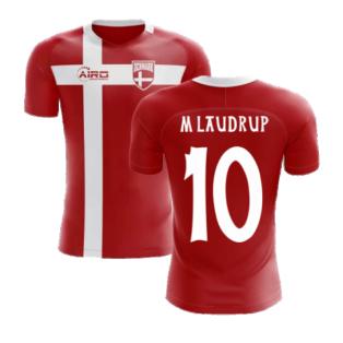 2020-2021 Denmark Flag Concept Football Shirt (M Laudrup 10) - Kids