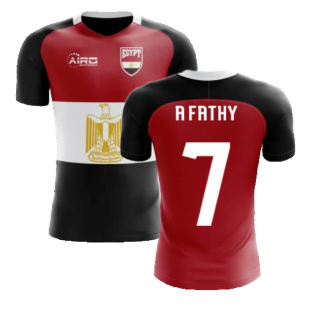 2020-2021 Egypt Flag Concept Football Shirt (A Fathy 7) - Kids