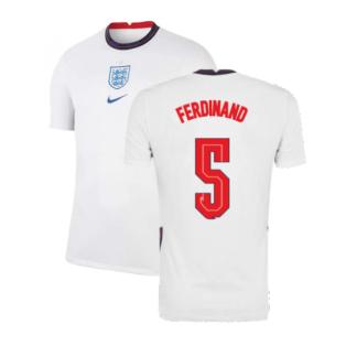 2020-2021 England Home Nike Football Shirt (FERDINAND 5)