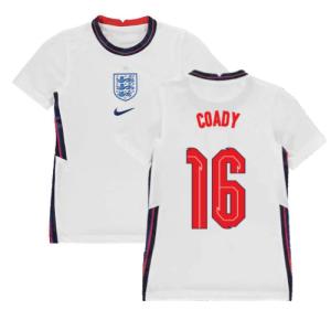 2020-2021 England Home Nike Football Shirt (Kids) (Coady 16)