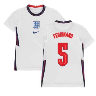 2020-2021 England Home Nike Football Shirt (Kids) (FERDINAND 5)