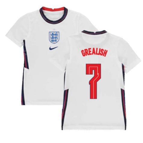 2020-2021 England Home Nike Football Shirt (Kids) (Grealish 7)