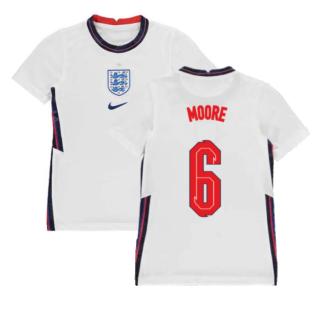 2020-2021 England Home Nike Football Shirt (Kids) (MOORE 6)