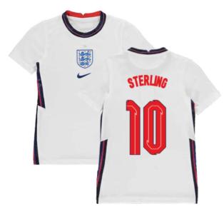 2020-2021 England Home Nike Football Shirt (Kids) (Sterling 10)