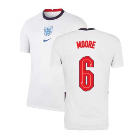 2020-2021 England Home Nike Football Shirt (MOORE 6)