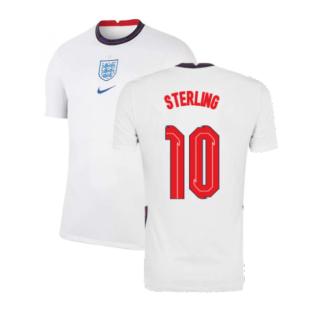 2020-2021 England Home Nike Football Shirt (Sterling 10)