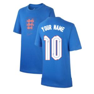 2020-2021 England Nike Evergreen Crest Tee (Blue) - Kids