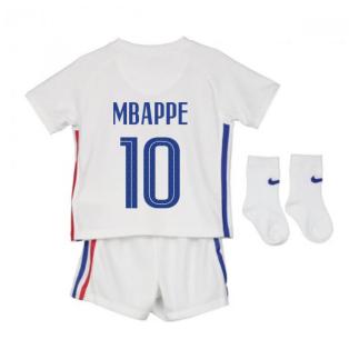 2020-2021 France Away Nike Baby Kit (MBAPPE 10)