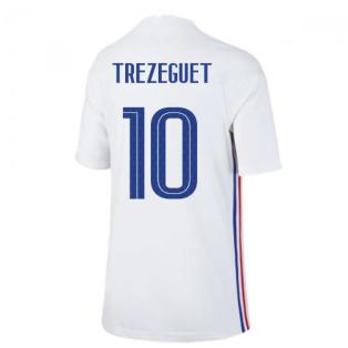 2020-2021 France Away Nike Football Shirt (Kids) (TREZEGUET 10)
