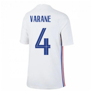 2020-2021 France Away Nike Football Shirt (Kids) (VARANE 4)